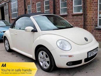 Volkswagen Beetle Convertible 1.6 Luna Harvest Moon Beige Leather Air Con Black Po